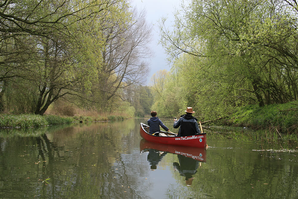 Canoeing on the Norfolk Broadss